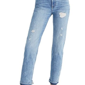 Madewell Classic Distressed Straight Leg Jeans (Tyler) | Nordstrom