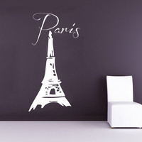 Wall Decal Paris Eiffel Tower Vinyl Decal France Sticker Art Bedroom Decor KG780