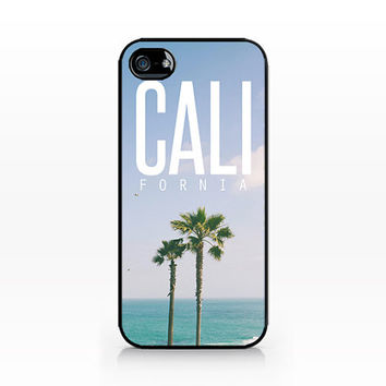 AWC-052-Cali Typography-Iphone 4/4s, Iphone 5/5s hard plastic case