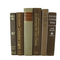Brown Decorative Books by Color with Vintage Books, S/6