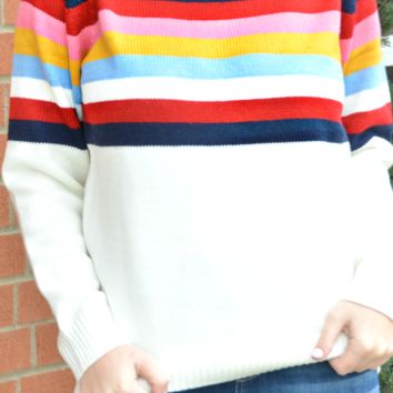 At It Again Stripe Sweater