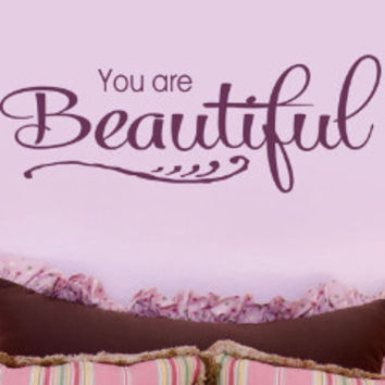 You Are Beautiful 2 Wall Decal