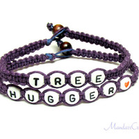 Royal Purple Tree Hugger Bracelets, Eco-Friendly Hemp Jewelry