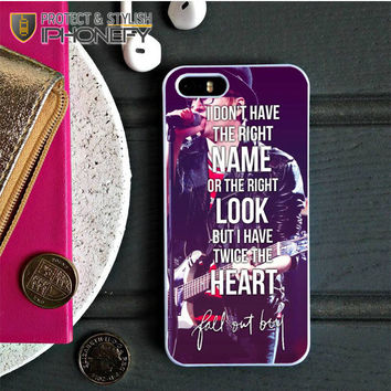 Fall Out Boy Lyrics Just One Yesterday iPhone 5C Case|iPhonefy