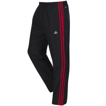 adidas Essentials CR 3 Stripe Track Pants - Black/Red