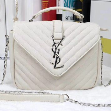 YSL Women Shopping Bag Leather Satchel Tote Handbag Shoulder Bag