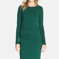 Women's Adelyn Rae Ruched Jersey Sheath Dress,