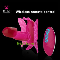 Female LED Luminous 20 Modes Dual Vibrating Stimulating Wireless Control Butterfly Vibrator Women Erotic Sex Toys = 1932843204