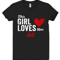 This Girl Loves her JAE Personalized T-Shirt