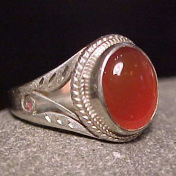 ORGANIC JASPER STONE Silver Crystal Ring GREAT by SeattleDesigns