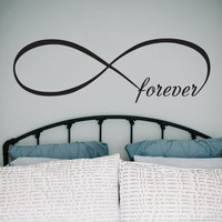 Infinity Symbol Wall Decal Bedroom Vinyl Decals Forever Bedroom Home Decor Infinity Loop Wall Quote Vinyl Lettering V954