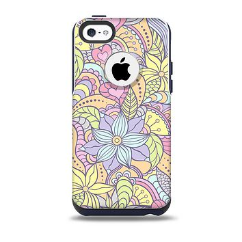The Vibrant Color Floral Pattern Skin for the iPhone 5c OtterBox Commuter Case