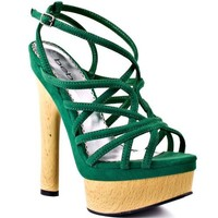 Bebe Shoes Chrissy - Green Micro