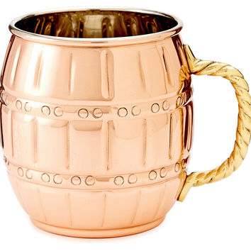 Barrel Copper Moscow Mules, Set of 2, Moscow Mule Mugs
