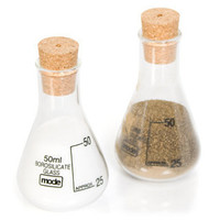 Conical Flask Salt and Pepper Set - buy at Firebox.com