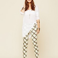 Free People Womens Printed Ankle Skinny - Olive Plaid, 2