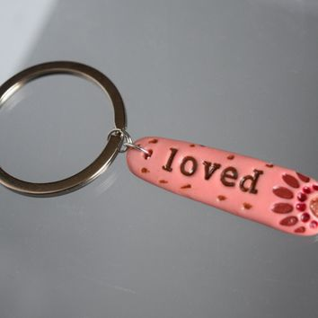 LOVED Word Key Chain