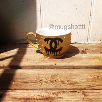 Gold studded Mug  by ShopMugShot on Etsy