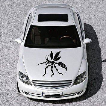 EVIL COMAR MOSQUITO ANIMAL DESIGN HOOD CAR VINYL STICKER DECALS ART SV1175