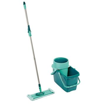 Leifheit 3-pc. Clean Twist Sweeper Mop XL, Bucket & Microfiber Cleaning Pad Set (Blue)