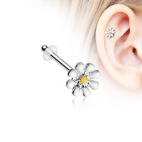 Dainty Adorable Daisy Piercing Stud with O-Rings
