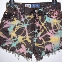High Waisted Splatter Tie Dye Shorts by BohoJane on Etsy