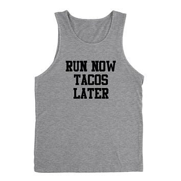 Gym, fitness athletic outfit, run now tacos later, motivation, inspiration Tank Top