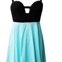 Ice Blue Strap Back Dress