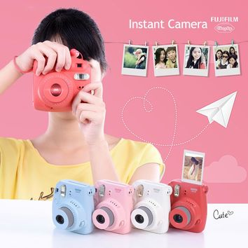 Fujifilm Instax Mini 8 Instant Camera Film Photo Camera Pop-up Lens Auto Metering Mini Camera with Strap 4 Colors Cute Best Gift