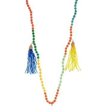 Rosantica Multi-Color Himalaya Agate Tassel Necklace