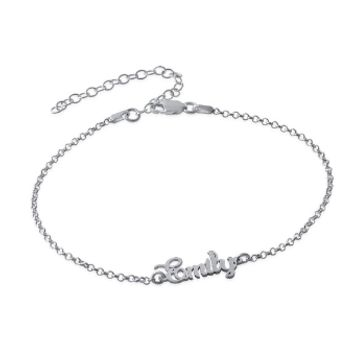 Ankle Bracelet With Name - Silver