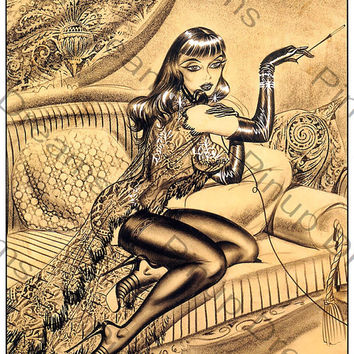 "Vintage Bill Ward Poster Print Art Pinup ""Burlesque"" re-print  A3 size (Get Any 3 For The Price of 2)"