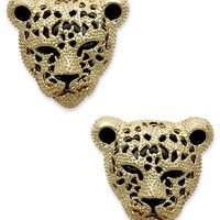 Material Girl Earrings, Gold-Tone Leopard Stud Earrings - Fashion Jewelry - Jewelry & Watches - Macy's