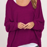 Long Sleeve Pullover Ladies Loose Casual Knit Sweater