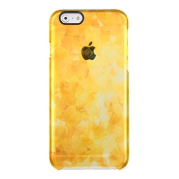 Gold Glitter Abstract Geometric Pattern Uncommon Clearly™ Deflector iPhone 6 Case