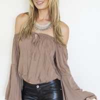 Flowy Off Shoulder Top (more colors)