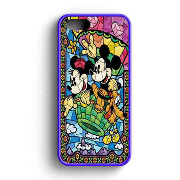 Mickey And Minnie Mouse Stained Glass  iPhone 5 Case iPhone 5s Case iPhone 5c Case
