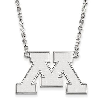 NCAA Sterling Silver U of Minnesota Large Pendant Necklace