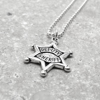 Deputy Sheriff Necklace, Sterling SIlver
