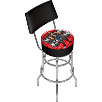 WWE Kids Stone Cold Steve Austin Padded Bar Stool with Back