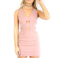 Harbin Rose Mocha BodyCon Dress