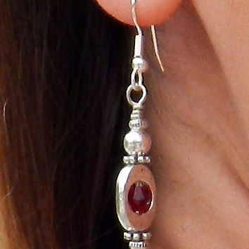 Crimson Stone Earrings