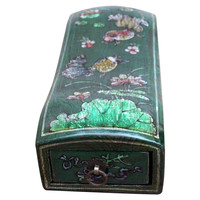 Madera Home, Lotus Elm Jewelry Box, Emerald, Jewelry Boxes & Chests