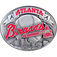 Atlanta Braves MLB Enameled Belt Buckle