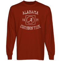 Alabama Crimson Tide University Lockup Long Sleeve T-Shirt - Crimson