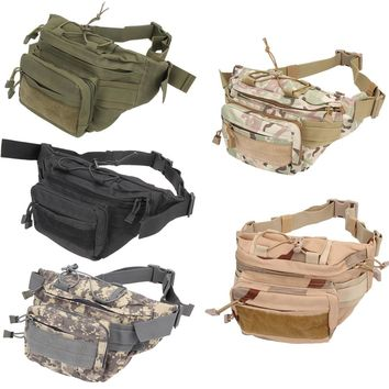 Unisex  men's multifunction travel bags Utility Tactical Waist Pack Pouch Military Camping Hiking Outdoor Bag Training Bags