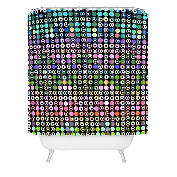 Lisa Argyropoulos Dot Matrix Shower Curtain