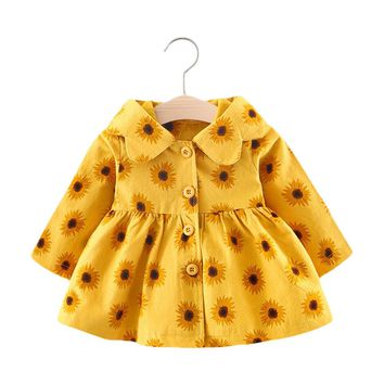 Baby girls Jacket for autumn Winter Hooded Coat Cloak Jacket
