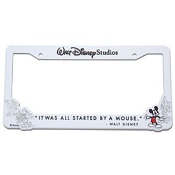 Walt Disney Studios Mickey Mouse License Plate Frame - White | Disney Store