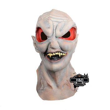 Terror Halloween Aliens Full Head Mask Latex Ghost Masquerade Cosplay for Adult Halloween Props Costume Fancy Dress Party Mask